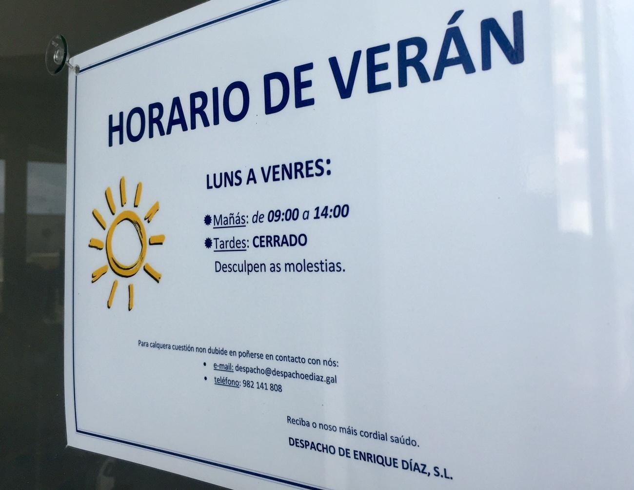 Horario de verán | Despacho Enrique Díaz